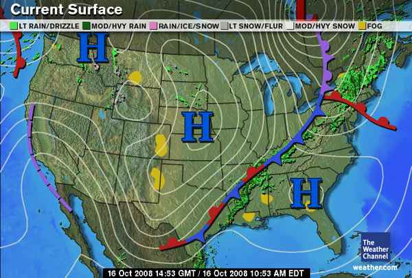 Analysis Of Surface Weather Map