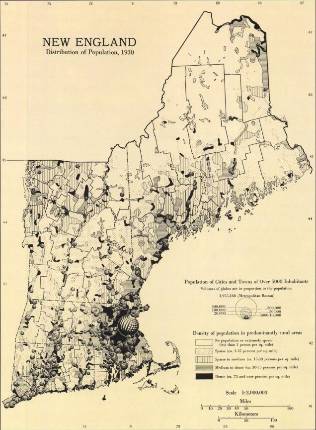 Historical Atlas Of Massachusetts - Us population density map 1800