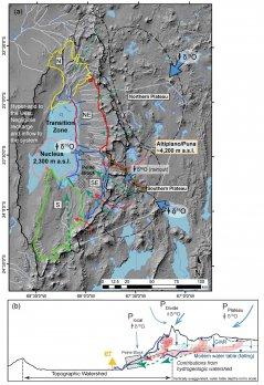 Figure from paper showing map of study area in Salar de Atacama