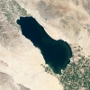 The Salton Sea, CA, from space.  Credit: NASA
