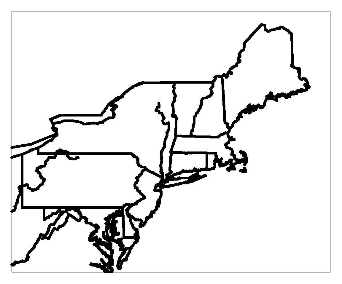 Map Of Us States New England - Us outline map printable