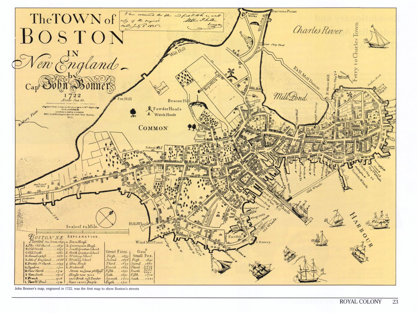 Boston Map Historical Sites.Historical Atlas Of Massachusetts