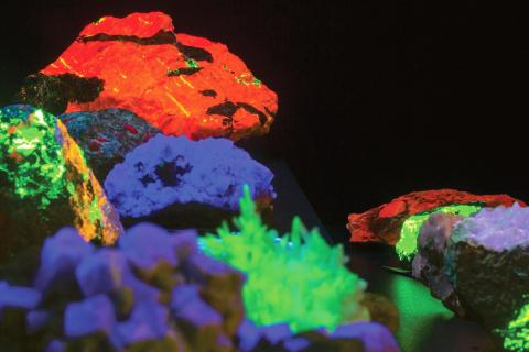 Fluorescent minerals from the Rausch collection at UMass Amherst